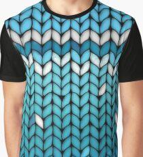 Aquamarine Knit Graphic T-Shirt