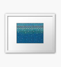Aquamarine Knit Framed Print