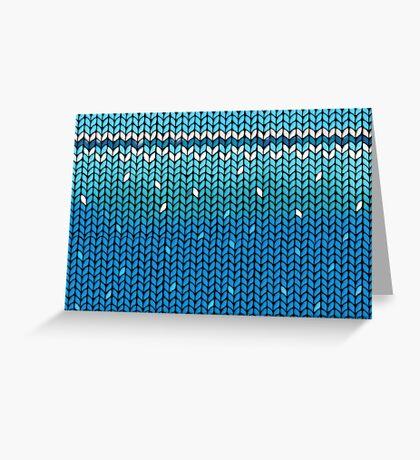 Aquamarine Knit Greeting Card