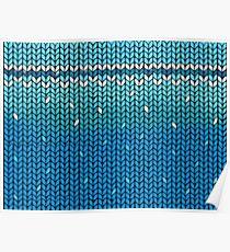 Aquamarine Knit Poster