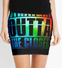 Straight Outta The Closet Shirt Mini Skirt