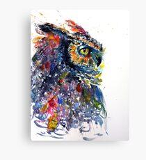 Cutebig horned owl Canvas Print