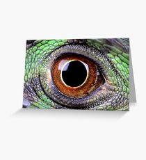 Iguana Eye Greeting Card