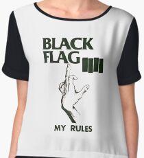 black flag Chiffon Top