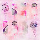 Soft Pastel Watercolor Ice Cream Cones by artsandsoul