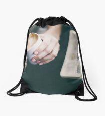 Cafe Drawstring Bag