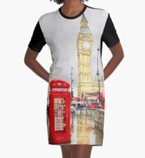London Reds Graphic T-Shirt Dress