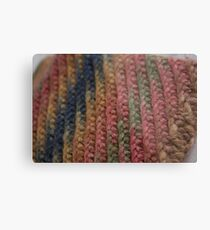 Knitted Weave Metal Print
