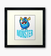 Funny Monster Cute Kids Gift T-Shirt  Framed Print