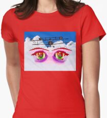 Eyes To Flight Womens Fitted T-Shirt
