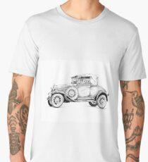 Old classic car retro vintage 01 Men's Premium T-Shirt