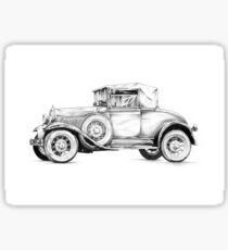 Old classic car retro vintage 01 Sticker