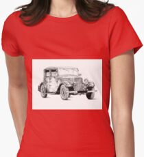 Old classic car retro vintage 02 Womens Fitted T-Shirt