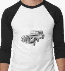 Old classic car retro vintage 03 Men's Baseball ¾ T-Shirt