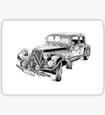 Old classic car retro vintage 03 Sticker