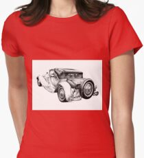 Old classic car retro vintage 04 Womens Fitted T-Shirt
