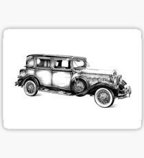 Old classic car retro vintage 05 Sticker
