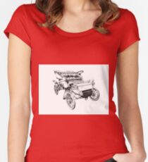Old classic car retro vintage 06 Women's Fitted Scoop T-Shirt