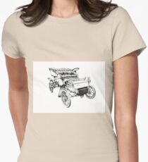 Old classic car retro vintage 06 Womens Fitted T-Shirt