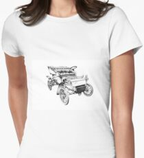Old classic car retro vintage 06 Women's Fitted T-Shirt
