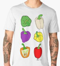 Colorful Bell Peppers Men's Premium T-Shirt