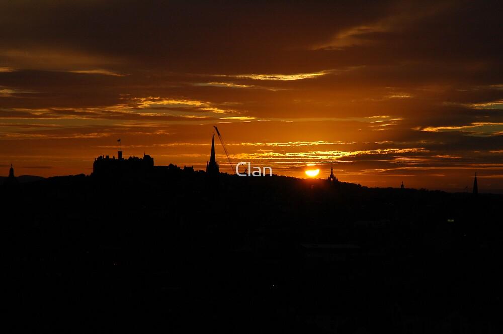 Clan: Edinburgh Skyline - Sunset by Clan