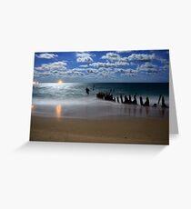 Dicky Wreck, Dicky Beach, Caloundra,QLD Greeting Card