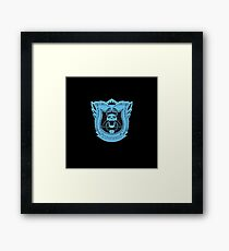 King's Dominion Crest - Blue Framed Print