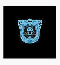 King's Dominion Crest - Blue Photographic Print