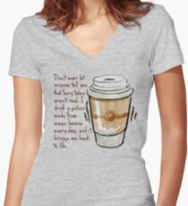 Fairy Tales aren't real Women's Fitted V-Neck T-Shirt