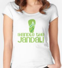 Just handle the jandal funny kiwi New Zealand saying Women's Fitted Scoop T-Shirt