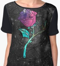 Stained Glass Rose Galaxy Women's Chiffon Top