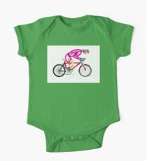 Cyclist watercolor One Piece - Short Sleeve