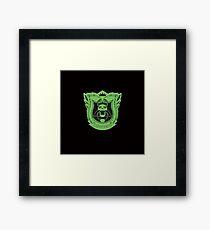 King's Dominion Crest - Green Framed Print