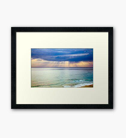 Sun of Portsea Framed Print
