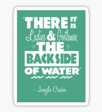 The Backside of Water Sticker