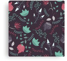 Fantasy flowers pattern Canvas Print