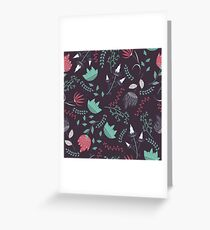 Fantasy flowers pattern Greeting Card