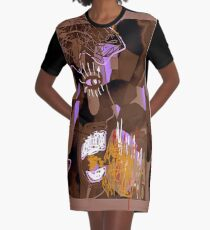 Shout Out by, Mickeys Art And Design.Biz Graphic T-Shirt Dress