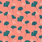 Bright Ginkgo & Dots #redbubble #decor #buyart by designdn