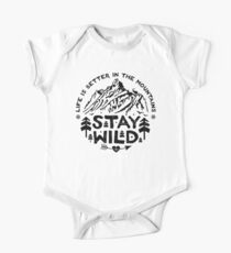 Stay Wild black Kids Clothes