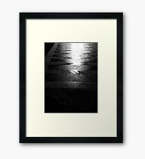Reflected Crosswalk Framed Print