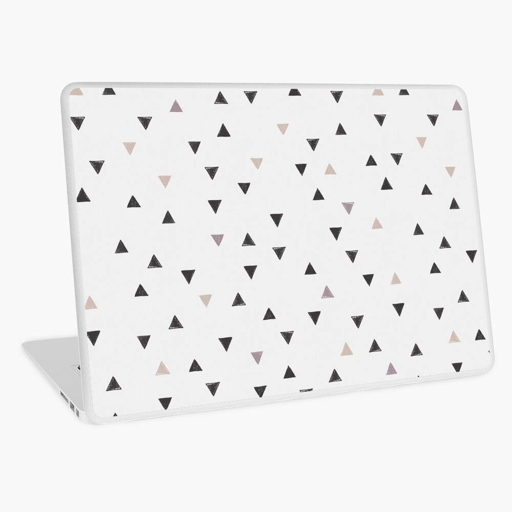 DOWN UP / scandi white / warm grey / flax / lavender Laptop Skin
