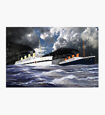 RMS Titanic and her sister the HMHS Britannic Photographic Print