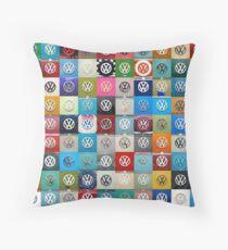 VW Logo Montage Throw Pillow