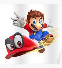Super Mario Odyssey - Mario and Cappy Poster
