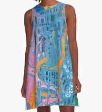 Aphro-Lament A-Line Dress