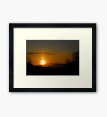 Combermere just afer the first light Framed Print