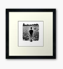 OASIS AT KNEBWORTH - posterized image. ICONIC Framed Print