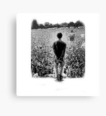 OASIS AT KNEBWORTH - posterized image. ICONIC Canvas Print